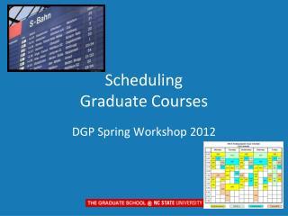 Scheduling Graduate Courses