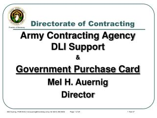 Directorate of Contracting