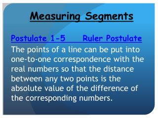 Measuring Segments