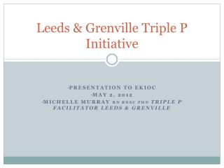 Leeds & Grenville Triple P Initiative
