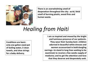 Healing from Haiti