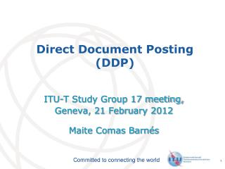 Direct Document Posting (DDP)