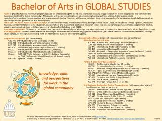 Bachelor of Arts in  Global Studies