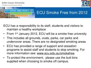 ECU Smoke Free from 2012