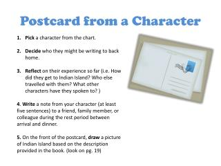 Postcard from a Character