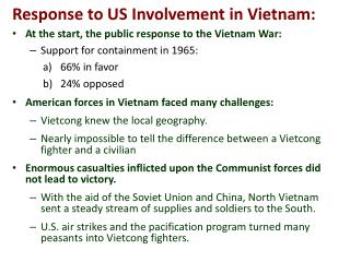 Response to US Involvement in Vietnam: