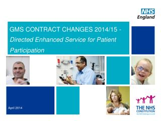 GMS CONTRACT CHANGES 2014/15 - Directed Enhanced Service for Patient Participation