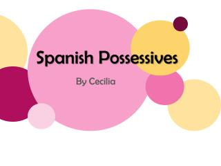 Spanish Possessives