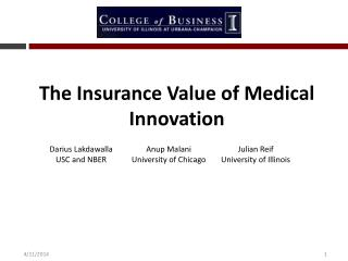 The Insurance Value of Medical Innovation