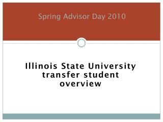 Spring Advisor Day 2010