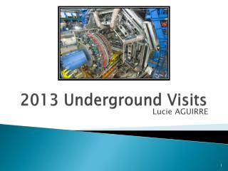 2013 Underground Visits
