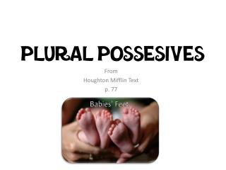 Plural Possesives