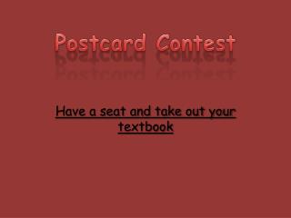 Postcard Contest