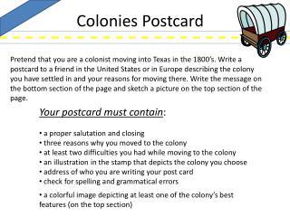 Colonies Postcard