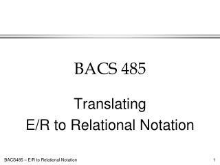 BACS 485