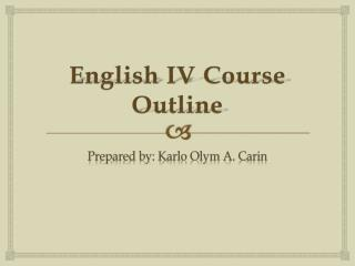 English IV Course Outline
