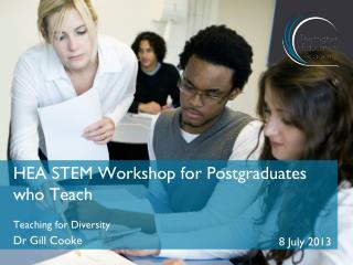 HEA STEM Workshop for Postgraduates who Teach