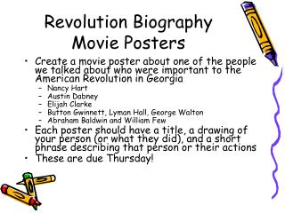 Revolution Biography Movie Posters