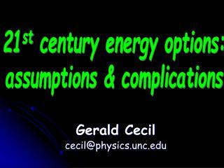 Gerald Cecil cecil@physics.unc