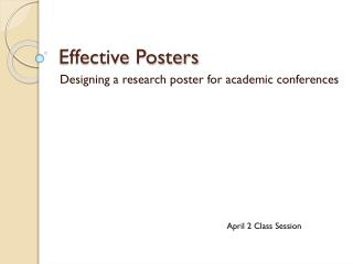 Effective Posters