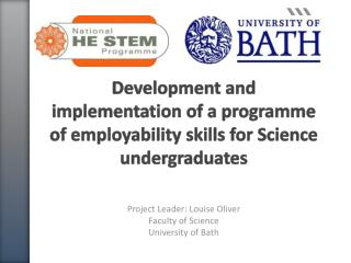Development and implementation of a  programme  of employability skills for Science undergraduates