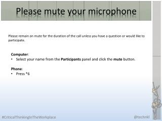 Please mute your microphone