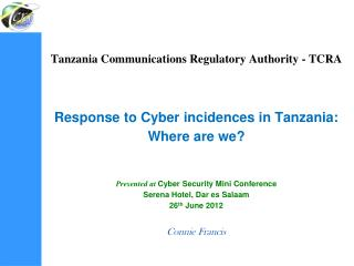 Tanzania Communication Regulation Authority