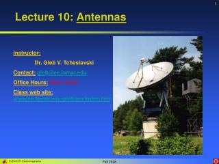 Lecture 10: Antennas
