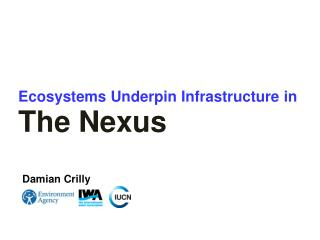 E cosystems  U nderpin  I nfrastructure in The Nexus