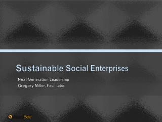 Sustainable Social Enterprises