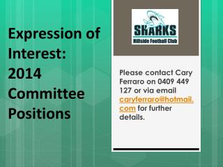 Expression of  Interest: 2014  Committee Positions