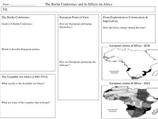 The Berlin Conference and its Effects on Africa