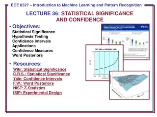 LECTURE  36:  STATISTICAL SIGNIFICANCE  AND CONFIDENCE