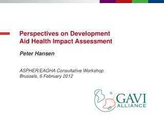 Perspectives on Development Aid Health Impact Assessment