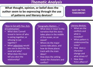 Thematic Analysis
