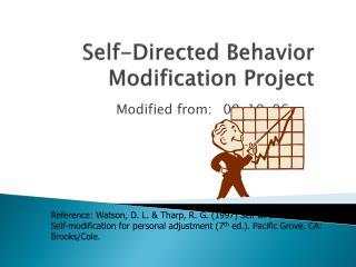 Self-Directed Behavior Modification Project
