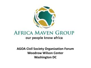 AGOA Civil Society Organization Forum Woodrow Wilson Center Washington DC