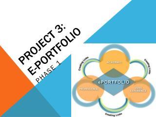 Project 3:  E-portfolio