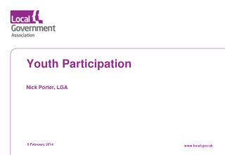 Youth  Participation Nick Porter, LGA