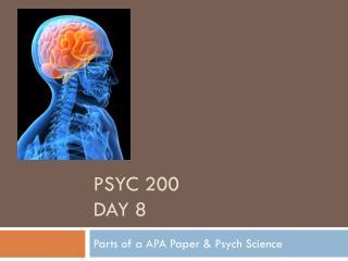 PSYC 200 Day 8