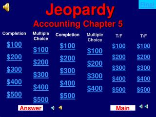 Jeopardy Accounting Chapter 5