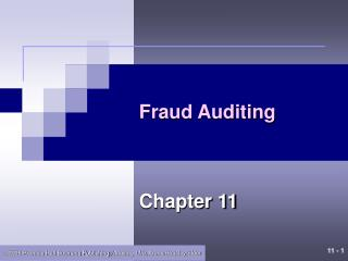 Fraud Auditing