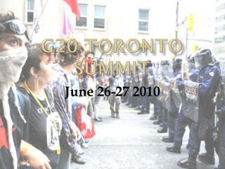 G20 Toronto Summit