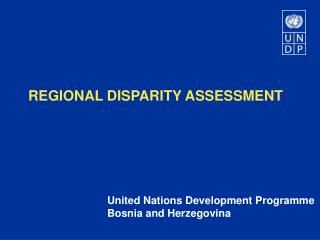 REGIONAL DISPARITY ASSESSMENT
