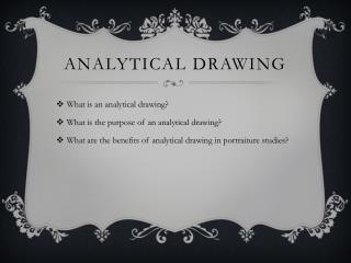 Analytical Drawing