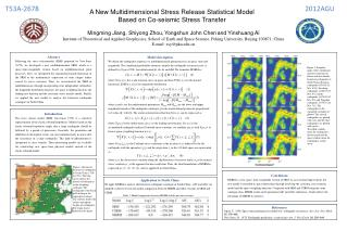 A  New Multidimensional Stress Release Statistical Model  Based  on  Co-seismic Stress Transfer