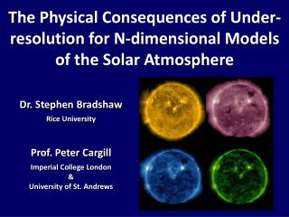 The Physical Consequences of Under-resolution for N-dimensional Models of the Solar Atmosphere