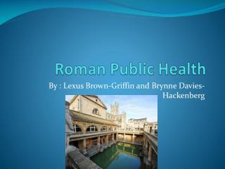 Roman Public Health
