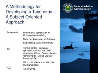 A Methodology for Developing a Taxonomy   A Subject Oriented Approach