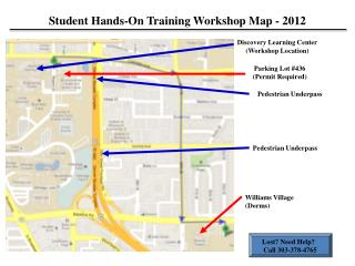 Student Hands-On Training Workshop Map -  2012